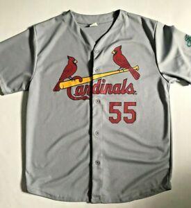 New ST LOUIS CARDINALS Piscotty 55 Mens Grey Baseball Jersey Shirt XL