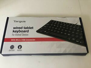 New Targus Wired Tablet Keyboard Micro-USB Connector, Black AKB122US