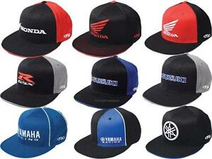 FX Mens Guys FlexFit Hat Ball Cap Japanese Motorcycle Brands Honda GSXR Yamaha