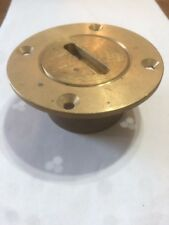 """2"""" Solid BRASS Garboard drain Low Profile Flush Made Canada Hall & Stavert PEI"""