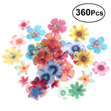 360pcs Edible Flowers Cupcake Topper Wedding Cake Birthday Party Food Decoration