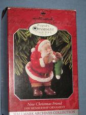 Hallmark Christmas Keepsake Collector's Club Ornament Santa & Puppy
