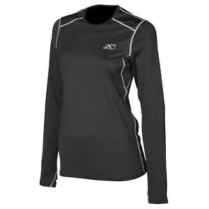Klim Solstice 1.0 Base Layer Shirt Black Womens All Sizes