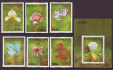 GUINEA REPUBLIC  1995 FLOWERS & ORCHIDS SET 6 + MINISHEET MINT NEVERHINGED