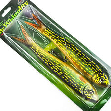 """RIVER2SEA Mr Whiggley Rig Soft Swimbait Slow Sinking 10.5"""" 3.25oz - PIKE"""