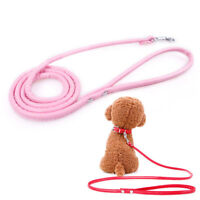 Small Pet Cat Puppy Dogs Leash Long Smooth PU Leather Traction Rope Walking Lead