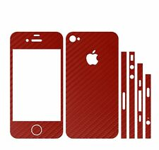 22 FA. IPHONE 4S FOLIE ROT CARBON ( BUMPER COVER HÜLLE SCHALE CASE HALTERUNG KFZ