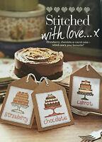 CROSS STITCH CHART Cake Gift Tag Designs Chocolate Strawberry Carrot PATTERN
