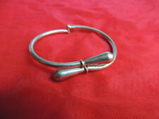 Vintage Mexico Taxco Sterling Silver Cuff Bangle Bracelet