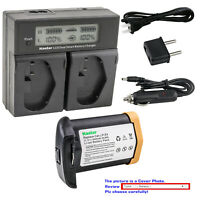 Kastar Battery LCD Dual Fast Charger for Canon LP-E4 LP-E4N Canon EOS 1D Mark 3
