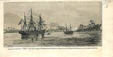 Ten Years' War Cuba Guerra de los Diez Anos USA Spain  ANTIQUE PRINT 1869