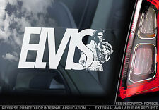 Elvis Presley - Car Window Sticker - The King Rock'n'Roll Music Sign Decal - V04