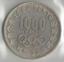 JAPAN, YEAR 39, (1964) 1000 YEN, SILVER, Y-80,  BRILLIANT UNCIRCULATED, OLYMPICS