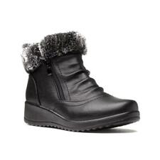 Womens Boot Faux Fur Boot in Black by Softlites Size UK 3,4,5,6,7,8,9
