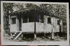 1955 Dry Pine Camp Bigwood Ontario Canada real photo postcard view