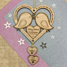 Personalised Wedding Gifts Love Birds Wooden Keepsake Mr & Mrs Mr & Mr Mrs & Mrs