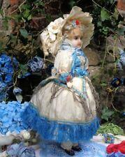 """Cera antiguo de exquisita sobre composición Muñeca, 16"""" Circa década de 1880, Calidad De Museo"""