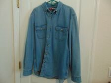 Men's Reel Legends Performance Blue 100 Cotton Denim Shirt-L