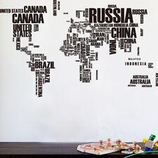 FR_ EG_Creative Lettres Carte du monde Autocollant Mural Décalque décor maison