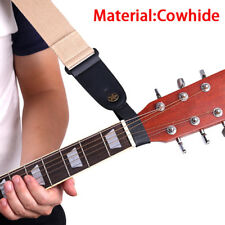 1x black leather guitar strap holder button safe lock for acoustic electric.f