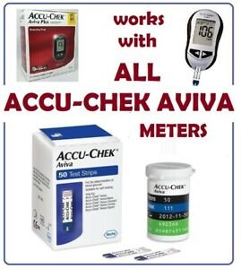 Accu-Chek Aviva /Plus Diabetic Blood Glucose Test Strips 50 ct Exp. 02/2022