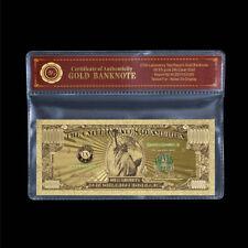 WR Eine Million US-Dollar-Banknoten-Geld 24K Gold mit Zertifikat