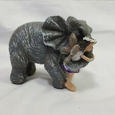 "Wholesale Fairy Gardens Elephant Hugs Figurine Ceramic 3.5"" Tall Decoration"