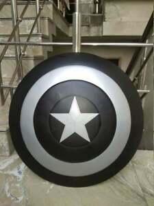 Black Captain America Shield - Metal Prop Replica - 1:1 Scale Halloween