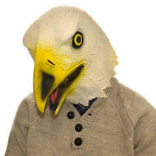 American Golden Eagle Latex Mask Full Head Overhead Funny Animal Halloween