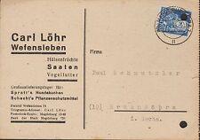 WEFENSLEBEN, Postkarte 1949, Carl Löhr Hülsenfrüchte Saaten Vogelfutter