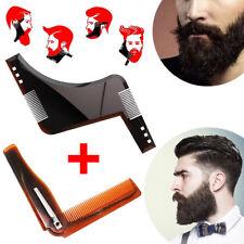 Set Regola barba modella barba + pettine basette beard shaper shaping per baffi