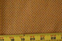 By 1/2 Yd, Vintage, Black & Gold Print Quilt Cotton, P343