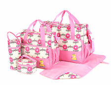 Laminated Water Proof Insulated Thermal 5pcs Baby Nappy Changing Hospital Bag Pi