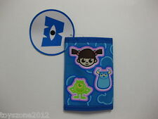 """Monsters, Inc. Tri-Fold Wallet 4.5"""" x 3.25"""" ( BLUE ) BRAND NEW WITH TAGS"""