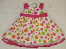 New Baby Girl Summer Polka DOT Birthday Party Dress Size 3-6M NWOT