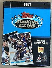 1991-92 Topps Stadium Club Premium Hockey Cards Box set 36 packs-12 cards pack