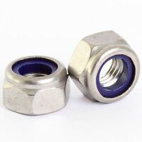 M2.5 STAINLESS NYLOC NYLOCK LOCK NUTS QTY 25 PACK