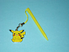 Yellow Nintendo 3DS Stylus With Pokemon Pikachu Charm Attached