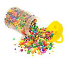 BUMPER BUCKET OF PLASTIC BEADS (2500+pcs)