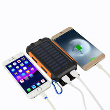 Waterproof 50000mah Power Bank 2 USB 2 LED Battery Charger for Iphonex 8 8plus 7 Black Orange