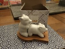 """White Bamboo """"Making Bacon"""" Salt and Pepper Set (Boxed) -  Unwanted Gift"""