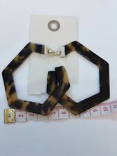 Urban Outfitters, earings, dark Tortoise, golden colour, 7 x 6.5 cm,  RRP 22.99