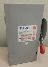 USED Eaton DH222NGK 60A 240V 2-Pole Fusible NEMA 1 Heavy Duty Safety Switch