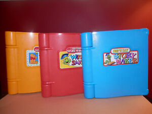 Set of 3 Mattel See N Say Story Makers - Tested & Working - 1991