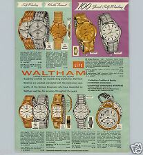 1963 PAPER AD 3 PG Waltham Wrist Watch 25 Jewel Mercury Kevin Rototron 100 Jewel