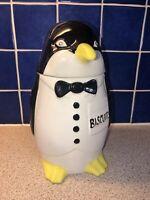 P & K Vintage Penguin Biscuit Barrel / Cookie Jar 10 Inch Price Kensington PEK