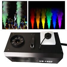3-IN-1 DMX Nebelmaschine RGB LED Bühnenlicht Band DJ Club Rauchmaschine 1500W DE
