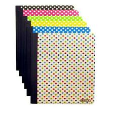 Set of 6 Polka Dot Composition Notebooks (100 Page, College Ruled, Non-Punched,