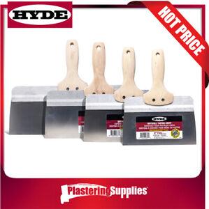 Hyde Taping Knife Set Stainless Steel Hardwood Handles Combo