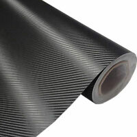 50x200cm 3D Matt Black Carbon Fiber Car Vinyl Foil Film Wrap Roll Sticker Decal